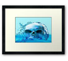 SKULL IN WATER Framed Print