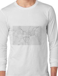 Bratislava, Slovakia Map. (Black on white) Long Sleeve T-Shirt
