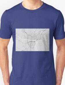 Bratislava, Slovakia Map. (Black on white) T-Shirt