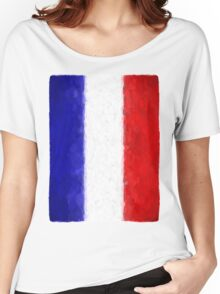 Blue White and Red Women's Relaxed Fit T-Shirt