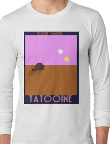 Star Wars - Visit Tatooine - 1930s poster style Long Sleeve T-Shirt