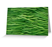 Beans in line Greeting Card