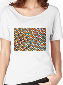 Sunset in abstract stained glass Women's Relaxed Fit T-Shirt