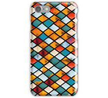 Sunset in abstract stained glass iPhone Case/Skin