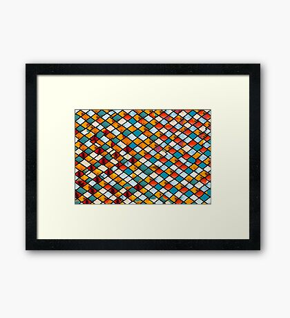 Sunset in abstract stained glass Framed Print