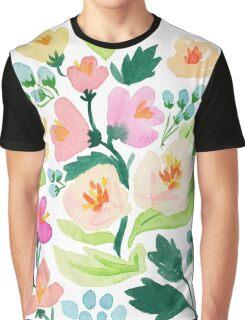 Watercolor Florals Graphic T-Shirt
