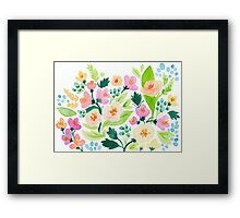 Watercolor Florals Framed Print