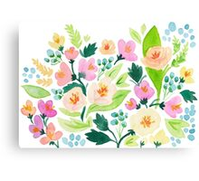 Watercolor Florals Canvas Print