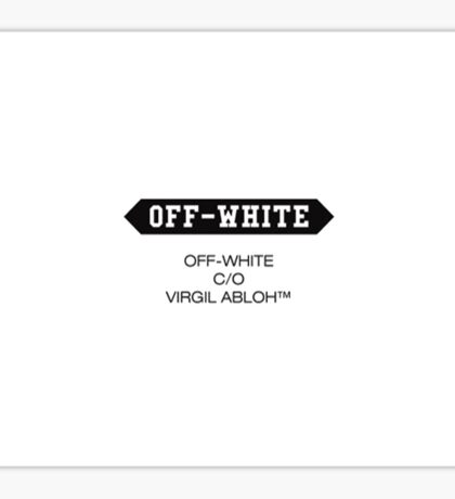 Off White Logo Sticker