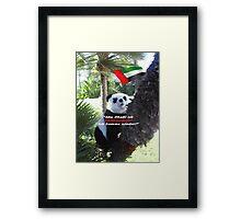 Panda-Souvenir direkt aus Abu Dhabi - ohne das Haus zu verlassen! Framed Print