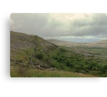 Dry stone walls of the Burren Canvas Print