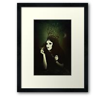Gothic woman portrait  Framed Print