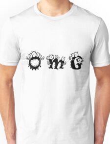 Cartoon monster text OMG Unisex T-Shirt
