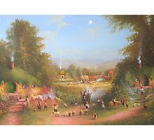 Gandalf's Return Fireworks In The Shire oil on canvas   Photographic Print
