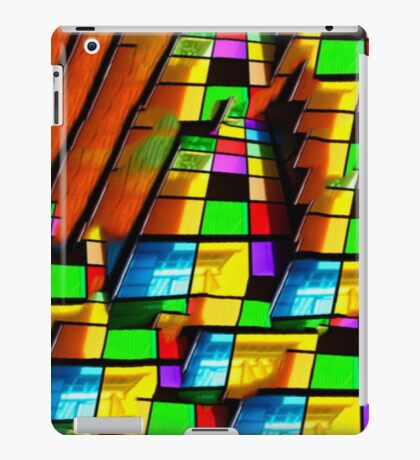 Contemporary architecture, vibrant glass windows oil painting iPad Case/Skin