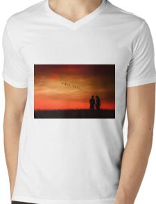 Summer Love Mens V-Neck T-Shirt