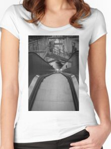 Stairs and escalators  Women's Fitted Scoop T-Shirt