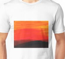 Red landscape minimal and abstract Unisex T-Shirt