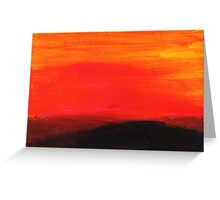 Red landscape minimal and abstract Greeting Card