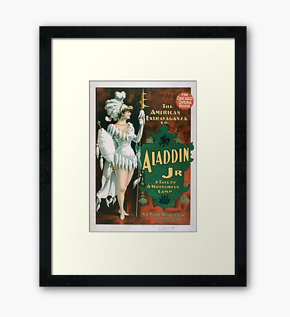 Performing Arts Posters Aladdin Jr a tale of a wonderful lamp 0004 Framed Print