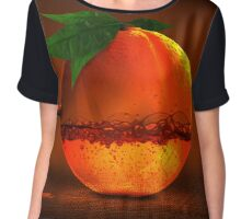 orange concept juice Chiffon Top