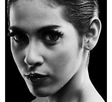 monochrome portrait of woman Photographic Print