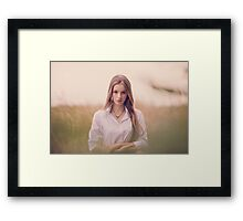 fashion outdoor portrait  Framed Print