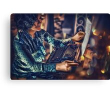 woman reading love letter  Canvas Print