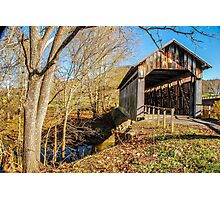 Ringos Mills Covered Bridge Photographic Print