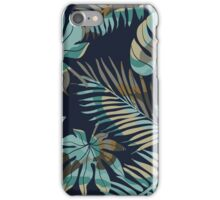 Seamless pattern with tropical leaves iPhone Case/Skin