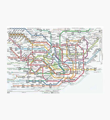 tokyo underground map Photographic Print