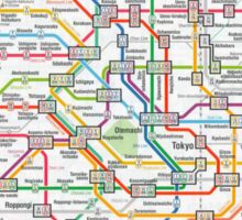 tokyo underground map Sticker