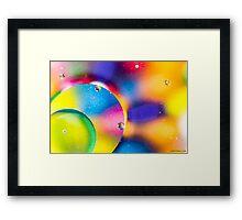 Oil & Water 6 Framed Print