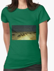 Wildebeest on the March Womens Fitted T-Shirt