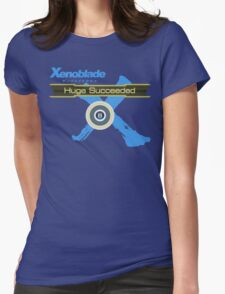 Huge Succeeded - Xenoblade Chronicles X Blue Womens Fitted T-Shirt