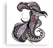 Ariel Stain Glass Pastel Canvas Print