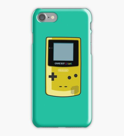 Game Boy Color Yellow iPhone Case/Skin