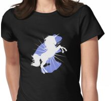 White Unicorn  Womens Fitted T-Shirt