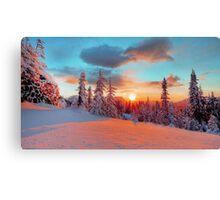 coucher de soleil Canvas Print