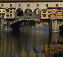 Reflections; Ponte Vecchio & The Arno  by wiggyofipswich