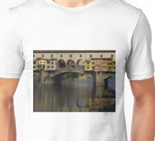 Reflections; Ponte Vecchio & The Arno  Unisex T-Shirt