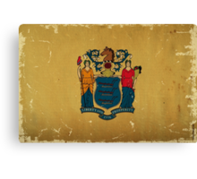 New Jersey State Flag VINTAGE Canvas Print