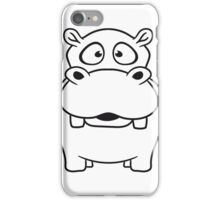 nilpferd klein dick süß niedlich comic cartoon hippo  iPhone Case/Skin