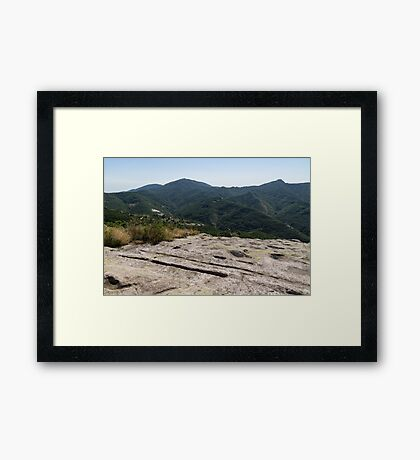 Ancient Thracian Ceremonial Site Belintash - Go for the Magic of Bygone Times Framed Print