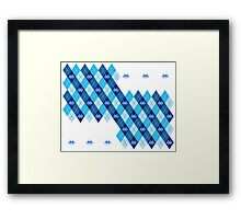 Space Intruders Argyle Pattern Framed Print