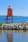 Racine North Breakwater Lighthouse by Kenneth Keifer