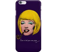 Bob Marilyn Monroe with surreal pipe iPhone Case/Skin