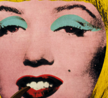 Bob Marilyn Monroe with surreal pipe Sticker