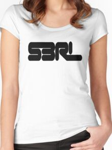 S3RL black edition Women's Fitted Scoop T-Shirt