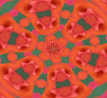 Succulent Red and Yellow Flower Abstract 2 by taiche